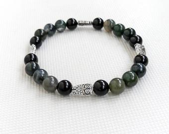 Owl bracelet agate, women bracelet owls, multicolored agate bracelet, owl bracelet girls, bracelet agate beads, owl bracelet agate string,