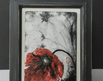 red poppy,poppy painting,poppy oil painting, poppy painting, original painting,floral painting, original art, red poppy, poppy art,gift mum