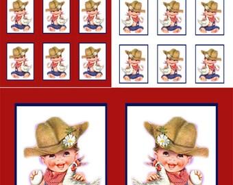 Cute Baby Farmer, Baby Boy Cutout, Baby Farmer Sign, Baby Farmer With Chicken Tag, Baby Farmer Label, Cute Baby Sticker,Cute Farmer Boy Sign