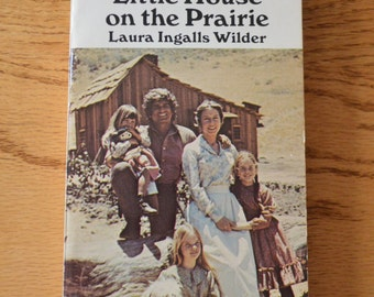 1975 Little House on the Prairie Book by Laura Ingalls Wilder with Photos from Television Show