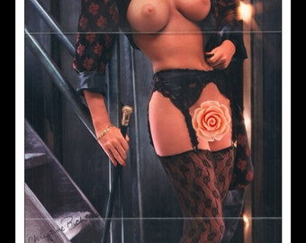 "Mature Playboy May 1986 : Playmate Centerfold Christine Richters Gatefold 3 Page Spread Photo Wall Art Decor 11"" x 23"""