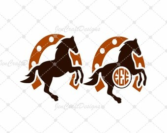 Horse Monogram Svg Cuttable Design SVG, Eps, Dxf Png Cut files for Cricut DS, Silhouette Instant download