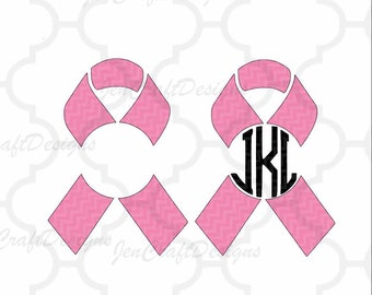 Awareness Ribbons SVG Cut Files Personal Monogram Frame Svg, Dxf, Eps, Png Cutting Machines like Cricut Design Space and Silhouette Studio