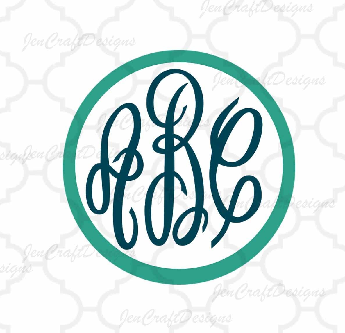 Download Master Circle Monogram font SVG , DXF, EPS, Jpg. Free ...