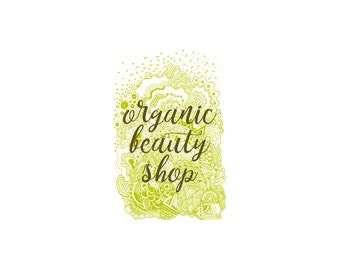 Organic Shop Logo, Premade Logo, Business Logo, Logo Design, Organic Logo,  Boutique Logo, Etsy Shop Logo, Bio Logo, Natural Logo
