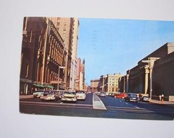 Vintage Toronto Postcard 1959  / Royal York Hotel postcard / Union Station  / downtown Toronto Roads Postcard