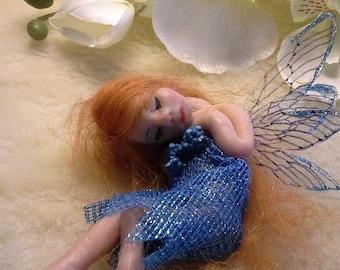 Handcrafted  Fairy, Ooak Fairy, Miniature Fairy, Clay Fairy,  Fairy Art, Tiny Fairy, Fairies, Fairy Doll, Fairy Sculpture, Pixie