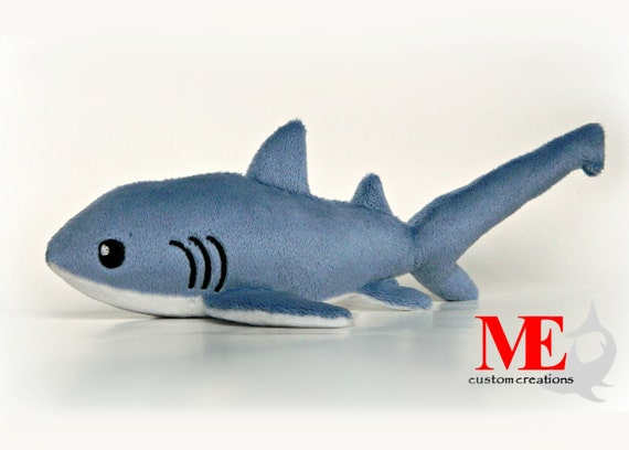 Thresher Shark Plush Custom Order Shark Beanie Plushie In