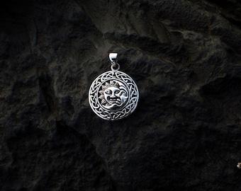 Sterling Silver Sun & Moon Pendant - #318