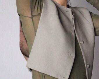 Detective / EMPORIO ARMANI / vest / Minimal / Olive Khaki / Made In Italy