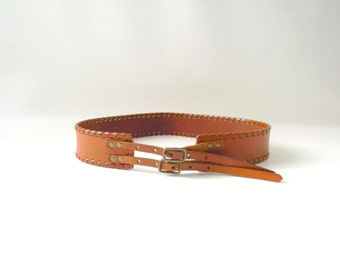 Womens Brown Leather Waist Belt