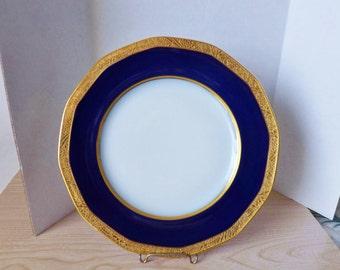 THEODORE HAVILAND COBALT blue plates