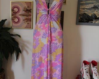 1970s Summer Maxi Dress