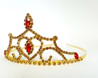 PRINCESS BELLE CROWN ,The Beauty And The Beast Belle Crown, Princess Belle Birthday Tiara ,Princess Belle Birthday Crown ,Halloween Costume