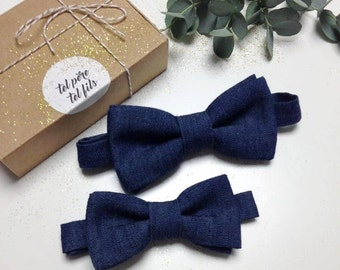 Cabinet child adult Butterfly knots, father his bowtie, BowTie denim, father and son, duo bowties, gift present family