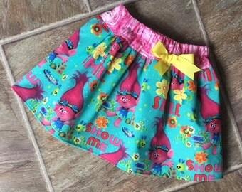 Trolls, Trolls Birthday, Queen Poppy Skirt, Trolls Skirt, Trolls Birthday Outfit, Trolls Dress, Baby Trolls, Queen Poppy Dress, Handmade