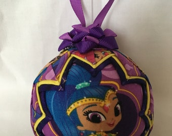 Shimmer and Shine Ornament Made From Shimmer and Shine Fabric,Nickjr,Quilted Ornaments,Christmas Ornaments,Purple Ornaments,Girls Decor