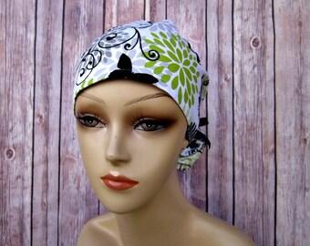 Womens Surgical Scrub Caps - Ponytail Scrub Hat - Scrub Caps - Butterflies