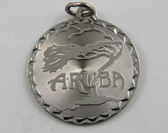 Aruba Sterling Silver Charm of Pendant.