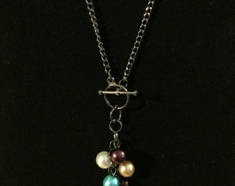 Cluster Pearl Drop Necklace