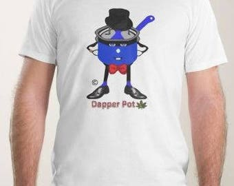 Dapper Pothead Spoof - Design on The Front and Back