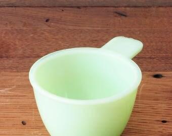 Vintage Jadeite Green Glass Jeannette Measuring 1/3 Cup 2-2/3oz Jadite Shot Glass Art Deco