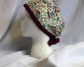 Psychedelic Snails Surgical Scrub Cap Dental Chemo Hat