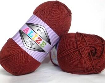 Stretch wool yarn Alize Merino Stretch, yarn of wool, acrylic and elastic, palette