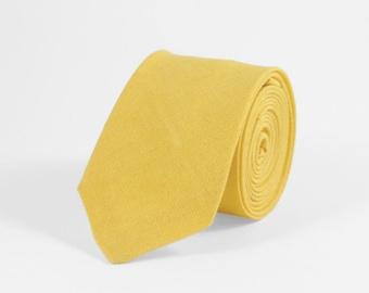 Yellow tie, Yellow necktie, yellow linen necktie, yellow wedding tie, yellow mens bow tie, bow tie for men, yellow boys bowtie, kids bowties