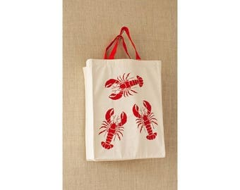 Lobster, Canvas Bag, Reusable Grocery Bag, Eco Friendly Bag, Cheap Bag