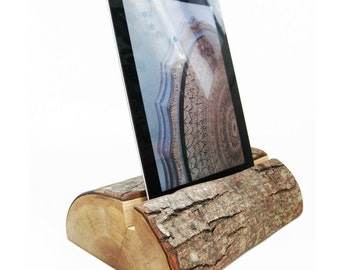 Natural Wood Tablet & iPad Nightstand Holder