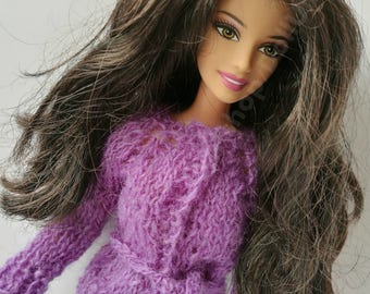 Handmade purple Jacket and Jeans for Barbie