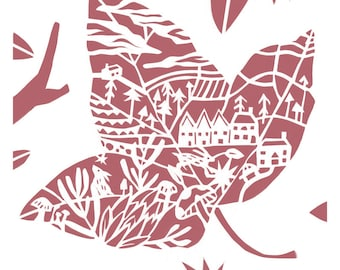 Little Ivy Leaf - Little Leaf Series - Woodland - Art Print - Home decor - Nature