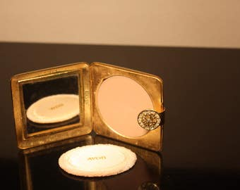 Vintage Avon Compact Mirrored Compact Jeweled Compact