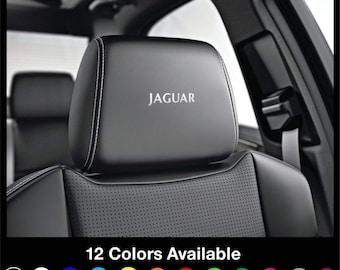 x6 JAGUAR Jag - Sport Headrest Car Seat Decals Stickers Graphics Logo Badge - XE XF Xj F-Type R Se F-Pace  - All Models