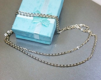 Necklace silver necklace chain old HK188