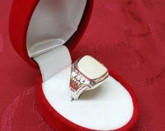 19.8 mm 835 silver Signet Ring vintage ring SR480