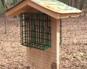 Hanging Double Suet Bird Feeder
