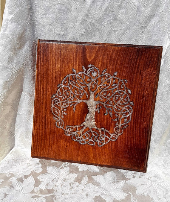 Custom order - Yggdrasil with Moon Stone inlay