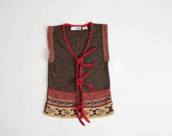 southwestern vest | 70s sweater vest | ethnic knit vest