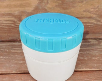 Vintage Turquoise Aqua Lunch Thermos Container, Insulated Food Storage