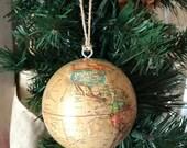 tan globe ornament
