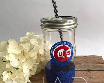 Chicago Cubs Mason Jar cup