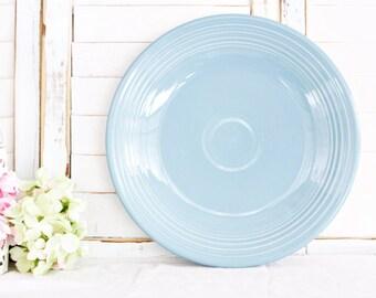 "Vintage Homer Laughlin Fiesta Dinner Plate 10 1/2"" | Vintage Plate, Fiesta Periwinkle Blue Plate, Blue Plate, Fiesta Dinner Plate"