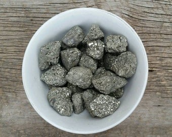 """Pyrite - """"Entrepreneur Stone"""" - Intellect, Logic, Good Luck, Fortune, Wealth, Business - Raw Stone - Healing Crystal"""