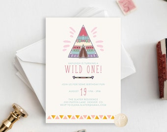 Printable Bohemian Birthday Invitation | Kids Birthday, Girl, Boho, Fun, Cute, Digital File