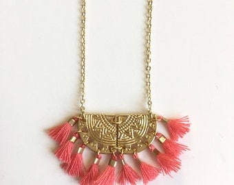 ALMA NECKLACE - coral