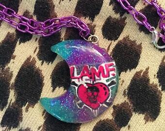 Johnny Thunders LAMF Moon Necklace