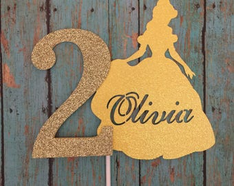 Disney, Belle Cake topper,beauty and the beast,ms potts,custom cake topper,Beast,Beauty,Bell,age,number,birthday, Happy Birthday, 1-Ct.