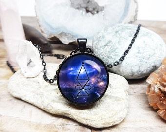 Halu necklace Reiki necklace Promotes balance and love necklace energy healing necklace reiki master sacred geometry jewelry yoga necklace